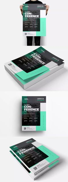 Global Conference Flyer Template PSD - A3