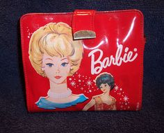 Vintage Barbie All Original Bright Red Vinyl Wallet You Have to See It | eBay