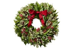 """22"""" Winter Fire Wreath, Cynthia Steffe --  lovely"""