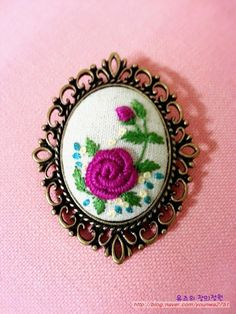 Wonderful Ribbon Embroidery Flowers by Hand Ideas. Enchanting Ribbon Embroidery Flowers by Hand Ideas. Bullion Embroidery, Embroidery Patterns Free, Hand Embroidery Stitches, Silk Ribbon Embroidery, Embroidery Jewelry, Embroidery Hoop Art, Floral Embroidery, Embroidery Designs, Polymer Clay Embroidery