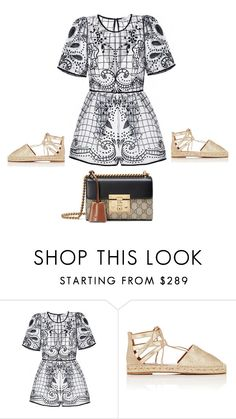 """Untitled #1406"" by polylana ❤ liked on Polyvore featuring Aquazzura and Gucci"
