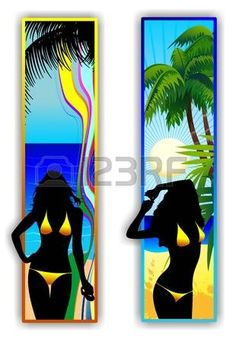Sexy Girls on Tropical Beach