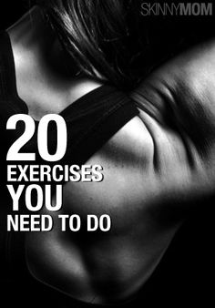 These are great exercises that you need to be doing!