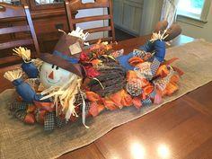 2017 Scarecrow Centerpiece Tutorial - Trendy Tree Blog| Holiday Decor Inspiration | Wreath Tutorials|Holiday Decorations| Mesh & Ribbons