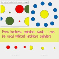Free Knobless cylinders pattern cards for toddlers. They can be used without knobless cylinders.