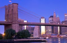Brooklyn Bridge & Financial District at sunrise, New York City (© Radius Images/Corbis) http://local.msn.com/best-sunrises-around-globe