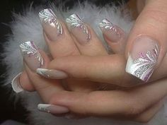 French Nails Nude Quadratisch Spitze Weis Dreieckig Lang Elegant Brautnagel Ring - - The Effective Pictures We Offer You About wedding nails videos A quality picture can tell you many thi French Nails, French Manicures, Elegant Bridal Nails, Elegant Makeup, Elegant Wedding, Trendy Wedding, Bridal Nail Art, Plum Wedding, Wedding Ideas