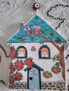 Turkish Art, House Quilts, Ceramic Houses, Cute House, Pottery Sculpture, Spring Art, Driftwood Art, Ceramic Design, Paper Clay