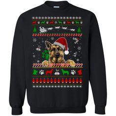 Ugly Christmas Sweaters Pet Dog German Shepherd  Hoodies Sweatshirts