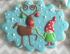 Christmas cookie - rudolph - I LOVE THIS COOKIE!!!!!!!!!!!!!