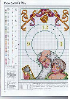 Relojes en punto de cruz (pág. 7) | Aprender manualidades es facilisimo.com
