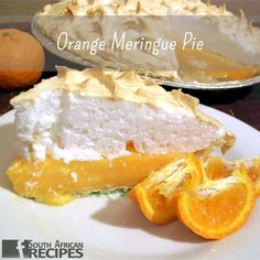 An orange meringue pie is a retro classic and what I love about this pie is that it takes just a few simple ingredients and a little bit of effort to make a really elegant pie. If you're not a huge fan of lemon meringue, this orange meringue pie is an excellent alternative for those that don't like that tart citrus taste from a lemon and instead prefer the sweet taste of oranges. Savoury Tarts, South African Recipes, Meringue Pie, Camembert Cheese, Effort, Alternative, Lemon, Fan, Cakes