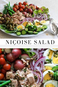 Salad — Jillian Rae Cooks This classic salad keeps you feeling full and satisfied. This classic salad keeps you feeling full and satisfied. Salat Nicoise, Tuna Nicoise Salad, Crab Salad, Salade Nicoise Recipe, Healthy Salad Recipes, Real Food Recipes, Cooking Recipes, French Salad Recipes, Cooking Tips
