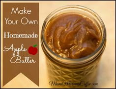 Apple butter - frugal and easy-to make! Include it in snacks and your morning oatmeal. Minimize sugar and additives from your diet, but keep the taste!