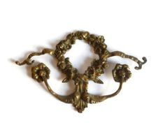 Ornate Floral Brass Embellishment by aestheticallyantique on Etsy, $30.00