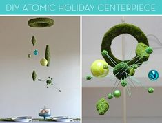 Mid-Century Modern Christmas: How to Make a #DIY Floating Holiday Centerpiece!