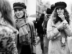 I've Been Seeing This Style Cap A Lot in Paris-- from The Sartorialist. I just love these hats!