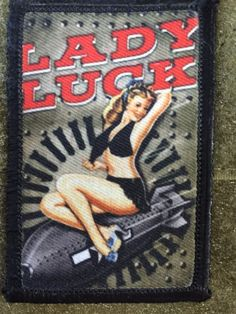 WWII Fighter Bomber Pin up Girl Nose Art Velcro Morale Patch Tactical Milspec