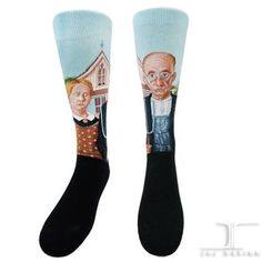Masterpiece -American Gothic   JHJ Design - The Art of Wearing Socks