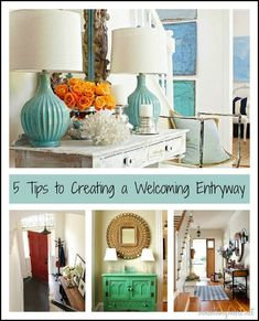 5 steps to create a welcoming entryway and fabulous photos. Enjoy.  March, 2013.   http://www.beneathmyheart.net/2013/03/5-tips-to-creating-a-welcoming-entryway/