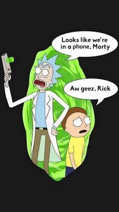 Phone Screensaver Rick and Morty!