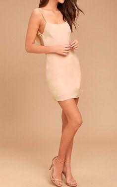 Make A Move Blush Pink Slip Dress via @bestfashionhq