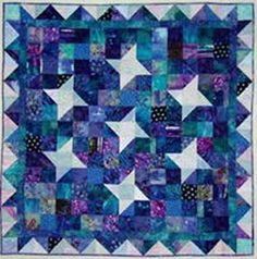 Make this great star quilt using easy to cut and piece squares and triangles. This is a great class for the quiltmaker who wants to perfect their rotary ...