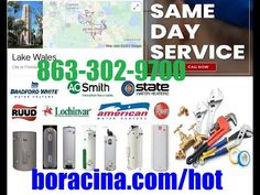 Emergency Hot Water Heater Repair In Lake Wales FL Same Day Installation... Mobile Mechanic, Lakeland Florida, Car Repair Service, Real Estate Services, The Help, Day, Water, Davenport Florida, Facebook