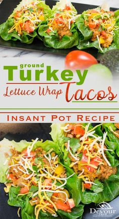 Ground Turkey Tacos for Taco Tuesday made in Instant Pot Pressure Cooker #Taco #tacos #groundturkeytaco #easytacorecipe #tacotuesdayrecipe #tacotuesday #turkeytacos #devourdinner #easyrecipe #Instantpot