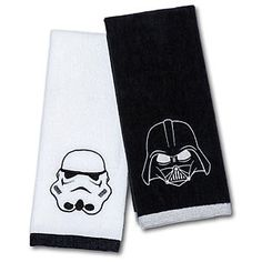 Opt for this Star Wars Hand Towel Set - Darth Vader & Stormtrooper that reflects your sense of decor, not something out of the pages of House Beautiful or Southern Living.