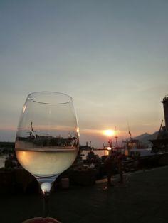 """Cena, """"Vento Ariel""""(Ristorante), Camogli Liguria Italia (Luglio)"""