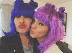 hailey and Kendall with wigs on - Google Search