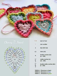 lots of heart pattern choices all together