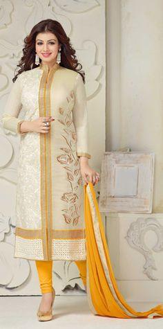 Charismatic White Straight Cut Designer Suit