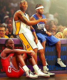 3 Legendary killers in NBA.  Michael Jordan, Kobe Bryant, and Allen Iverson (G.O.A.T, BLACK MAMBA, A.I. THE ANSWER)