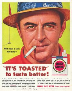 Lucky Strike, It's toasted Ad