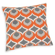 NOLLAN orange cotton cushion cover 40 x 40 cm
