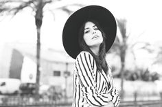 Dulceida: STRIPED BLACK AND WHITE