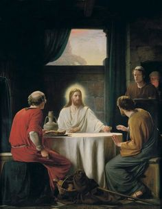 The resurrected Christ walks with two men on the road to Emmaus. He blesses and breaks bread with them, and then vanishes from sight. Their hearts burned within them. http://youtu.be/8YlzWPPiH4A Enjoy more inspiring images, scriptures, and uplifting messages about the Lord #JesusChrist http://facebook.com/173301249409767 Enjoy more from the #HolyBible http://facebook.com/212128295484505 #ShareGoodness