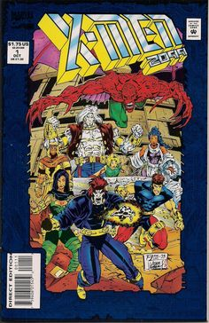 X-MEN 2099 #1 Marvel Comics John Francis Moore Ron Lim Adam Kubert Blue Foil Cover