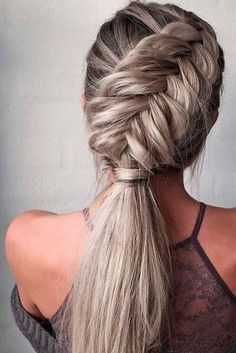 40 Trendy Braided Hairstyles For Long Hair To Look Amazingly Awesome;Beautiful prom hairstyles long hairstyles for teens. hairstyles 2018 40 Trendy Braided Hairstyles For Long Hair To Look Amazingly Awesome Teen Hairstyles, Wedding Hairstyles For Long Hair, Braids For Long Hair, Ponytail Hairstyles, Hairstyles 2018, Braided Ponytail, Hairstyle Ideas, Edgy Updo, Hairstyle Braid