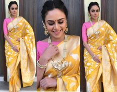 South India Fashion ~ Latest Blouse Designs 2020 - Page 2 Kanjivaram Sarees Silk, Pure Silk Sarees, Nauvari Saree, Wedding Saree Blouse, New Years Outfit, Silk Saree Blouse Designs, Ethnic Sarees, Saree Trends, Indian Fashion Designers