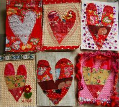 Tutorial: Make Valentine Postcards by iHanna.  Shows how to make each one!