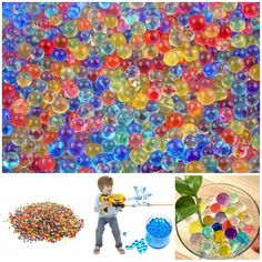2000pcs Gun Pistol Water Bullets Crystal Soft Bullet Paintbal Toy Infrared Shooting orbeez Balls Soil Water Beads Jelly nerf