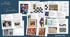 ARTS ET GEOMETRIE Art Lessons For Kids, Art Lessons Elementary, Art Kids, High School Art, Middle School Art, School Life, Math Art, Science Art, Art Montessori