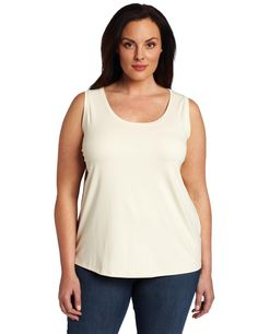 Karen Kane Women's Plus-Size Soft Long Tank Shirt ** See this awesome image : Plus size shirts Long Tank Tops, Plus Size Tank Tops, Plus Size Shirts, Karen Kane, Tank Top Shirt, Plus Size Outfits, Plus Size Fashion, Casual Outfits, Clothes For Women