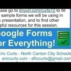 Google Forms for Everything 2012-05-10