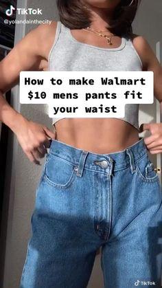 Diy Jeans, Diy Fashion Hacks, Fashion Outfits, Mens Workout Pants, Mode Turban, Mode Streetwear, Clothing Hacks, Cute Casual Outfits, Mode Style