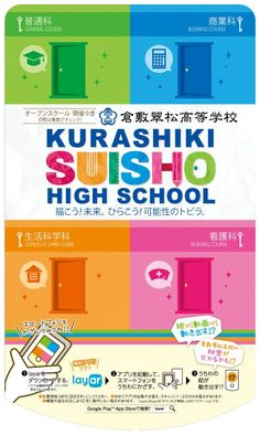 [Japanese content] Kurashiki Suisho High School augmented their poster with @Layar to present extra information about the school. They added a nice instruction of how to use Layar on the bottom of the poster. By scanning the poster with the Free Layar App the image will come to life!