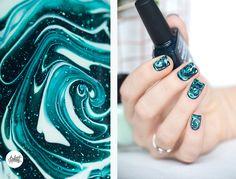 DRY MARBLE nail art tutotrial